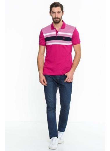 Comienzo Polo Yaka Tişört Fuşya